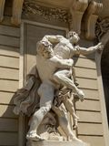 Statue of Hercules fighting Antaeus in Vienna Austria  Stock Photography