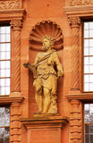 Statue of Hercules of Heidelberg Castle. Statue of Hercules at the wall of Heidelberg Castle Royalty Free Stock Images