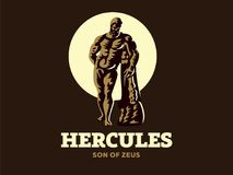 The statue of Hercules. Vector illustration. The statue of Hercules. Logo. Vector illustration Vector Illustration