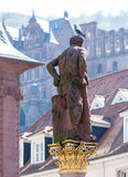 Statue of Hercules in market square Heidelberg Germany Stock Photo