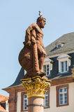 Statue of Hercules in market square Heidelberg Germany Royalty Free Stock Photos