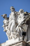 Statue of Hermes and the Goddess Roma Royalty Free Stock Photos