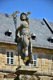 Statue Hermes (Mercury) in Michelsberg-Kloster in Bamberg, Deutschland Stockfotografie