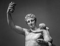 Statue of Hermes and young Dionysus Stock Images