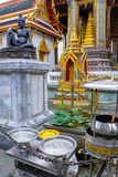 Statue of the hermit doctor Cheewaka Komarapach at Wat Phra Kaew, Bangkok, Thailand stock photos