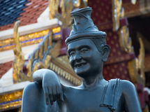 Statue of Hermit who was the Buddha's Doctor at Wat Prakaew bang Royalty Free Stock Photo