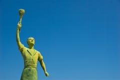 Statue Hero. Statue of Greek sailor hero in Gaios, island of Paxos, Greece Stock Images