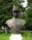 Statue of an hero in Marasesti, memorial from the WWI Royalty Free Stock Photo