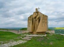 Statue of hetman Sahaidachny , Ukraine Royalty Free Stock Images