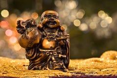 Statue heureuse de Bouddha   Image libre de droits