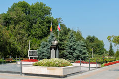 The statue of Heydar Aliyev Royalty Free Stock Images