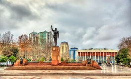 Statue of Heydar Aliyev in Baku stock images