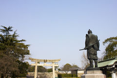 Statue of Hideyoshi Toyotomi in Osaka, Japan Royalty Free Stock Photo