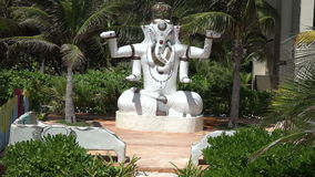 Statue of Hindu God Ganesha - Tilt Up stock video footage