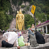 Statue of hindu god Muragan at Batu caves Stock Photography