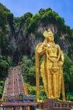 Statue of hindu god Muragan at Batu caves, Kuala Stock Photo