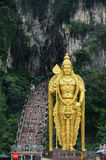 Statue of hindu god Murugan at Batu caves Stock Images