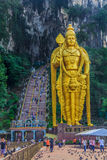 Statue of Hindu God Murugan at Batu Caves Stock Photo