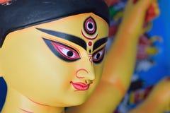 Statue of Hindu Goddess Durga at Durga Puja festivals. In West Bengal, India Stock Photos