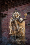 Statue of Hindu goddess. Hindu is the most popular religious in Nepal. There are many statues of Hindu gods around stock photos
