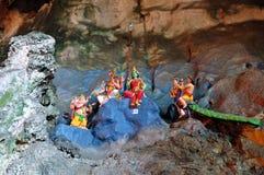 Statue of hindu Gods at Batu caves, Kuala-Lumpur, Malaysia Royalty Free Stock Photography