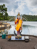 Statue in A Hindu Temple Grand Basin In Mauritius Island Royalty Free Stock Photography