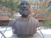 Statue of Hippocrates royalty free stock image