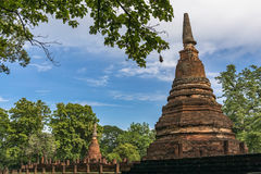 Statue in historischem Park KamphaengPhet Lizenzfreies Stockfoto