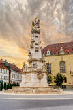 Statue of the Holy Trinity  in Budapest Hungary Royalty Free Stock Photos