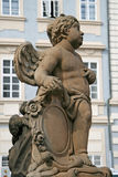Statue on the Holy Trinity Column (Plague Column). Prague, Czech Republic Royalty Free Stock Photo
