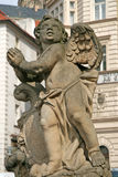 Statue on the Holy Trinity Column (Plague Column). Prague, Czech Republic Royalty Free Stock Image