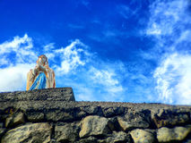 Statue of the holy virgin mary Royalty Free Stock Photos