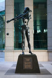 Statue Homage to Newton by Salvador Dali in Singapore Royalty Free Stock Photo