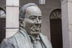 Statue in honor of the Spanish poet Antonio Machado in the main Royalty Free Stock Image