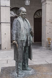 Statue in honor of the Spanish poet Antonio Machado Royalty Free Stock Images