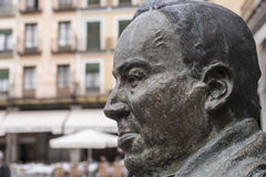 Statue in honor of the Spanish poet Antonio Machado Stock Photography