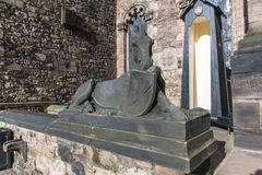 Statue of a Horse in Edinburgh Castle - Scotland - UK. Statue of a Horse in Edinburgh Castle, Edinburgh, Scotland - UK stock photography