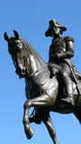 Statue of horse and rider Stock Images
