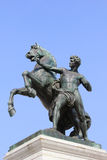 A statue of a horse tamer, Austrian Parliament Royalty Free Stock Image