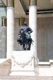 Statue on horseback Royalty Free Stock Photos