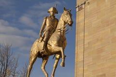 Statue of a horseman Stock Photo