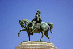 A statue of a horseman in Rome Royalty Free Stock Photography
