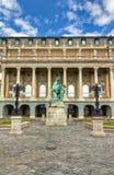 Statue of the Hortobagy horseherd, Buda castle royalty free stock image