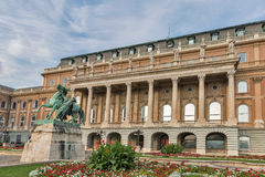 Statue of the Hortobagy horseherd in Buda castle. Budapest, Hungary. Stock Photography