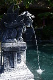 Statue at hot springs. Hot springs in Bali Indonesia Royalty Free Stock Images