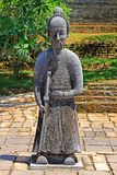 Statue In Hue Imperial Tomb of Tu Duc, Vietnam UNESCO World Heritage Site. The imperial tomb of Tu Duc is considered to be the most beautiful Imperial tomb of Stock Photo