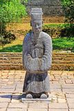 Statue In Hue Imperial Tomb of Tu Duc, Vietnam UNESCO World Heritage Site. The imperial tomb of Tu Duc is considered to be the most beautiful Imperial tomb of Royalty Free Stock Images