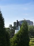 The Statue of Huey Long at the Louisiana State capitol is located in downtown Baton Rouge Stock Photo