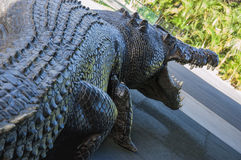 Statue of a huge crocodile Royalty Free Stock Images