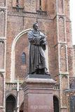 Statue of Hugo Grotius in Delft, Stock Image